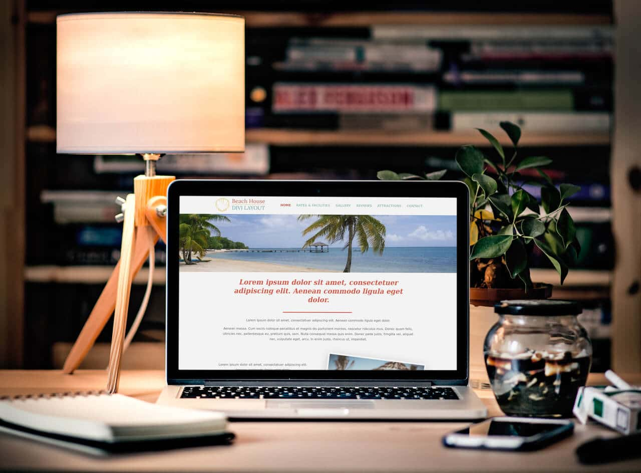 Free Divi Layout - Beach House